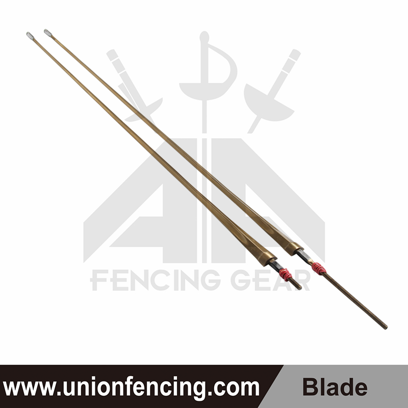 Union Fencing Epee Wired Blade with Point(Gold)