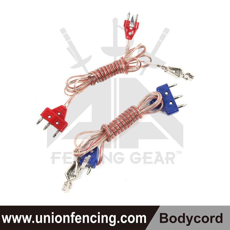 Union Fencing Foil 2-pin Body Cord (clear wire)