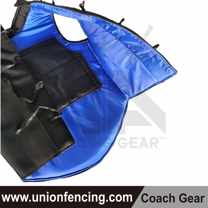 Union Fencing Coach Leather Jacket-no sleeves